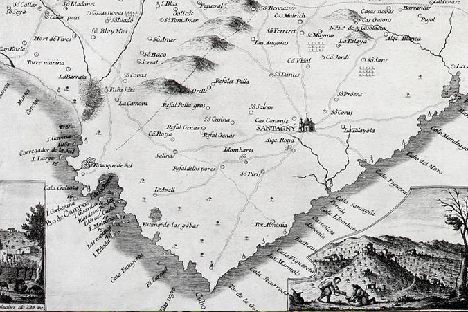 Old Map Santanyí